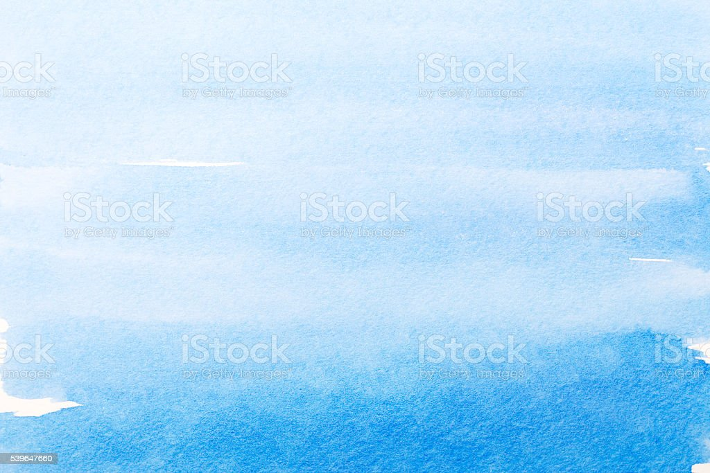 Azul fondo de acuarela, textura. - ilustración de arte vectorial