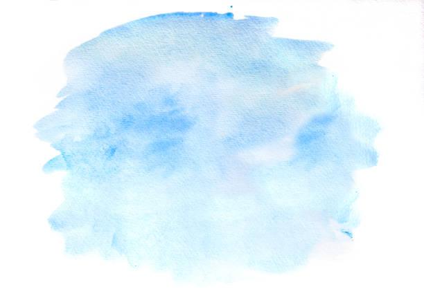 白地に青、水彩雲 ベクターアートイラスト