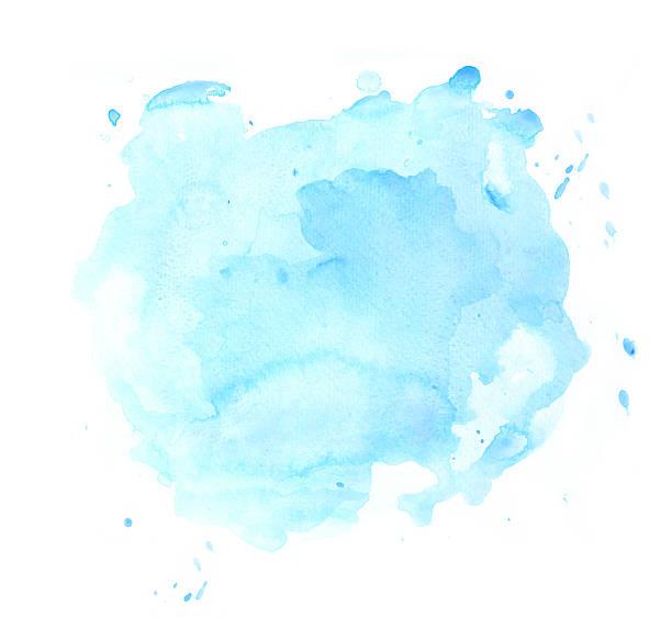 Blue watercolor spot vector art illustration