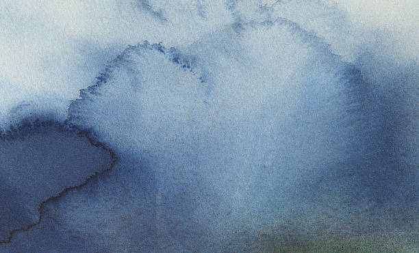 blue watercolor wash 2 - textured effect stock illustrations