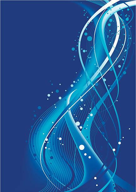 Blaue Welle Gestaltung – Vektorgrafik