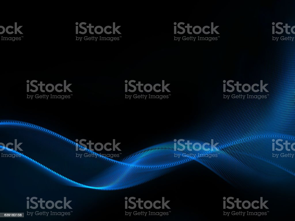 blue waves on black, border design element vector art illustration