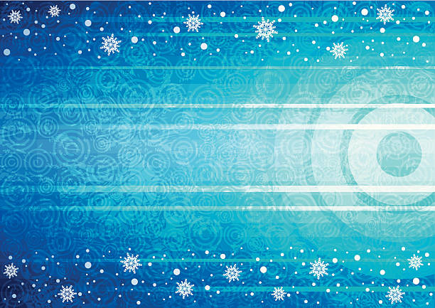 Blue winter background vector art illustration