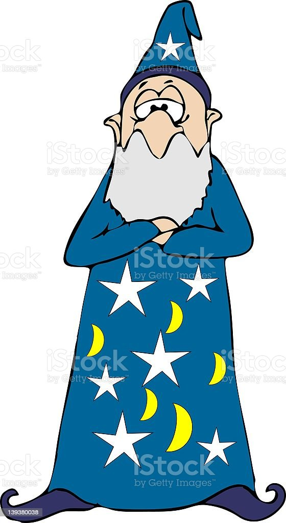 Blue Wizard royalty-free stock vector art