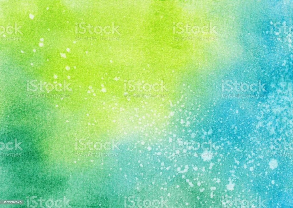青黄色緑手描きの背景 ベクターアートイラスト