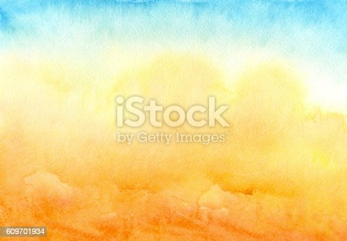 blue yellow watercolor background