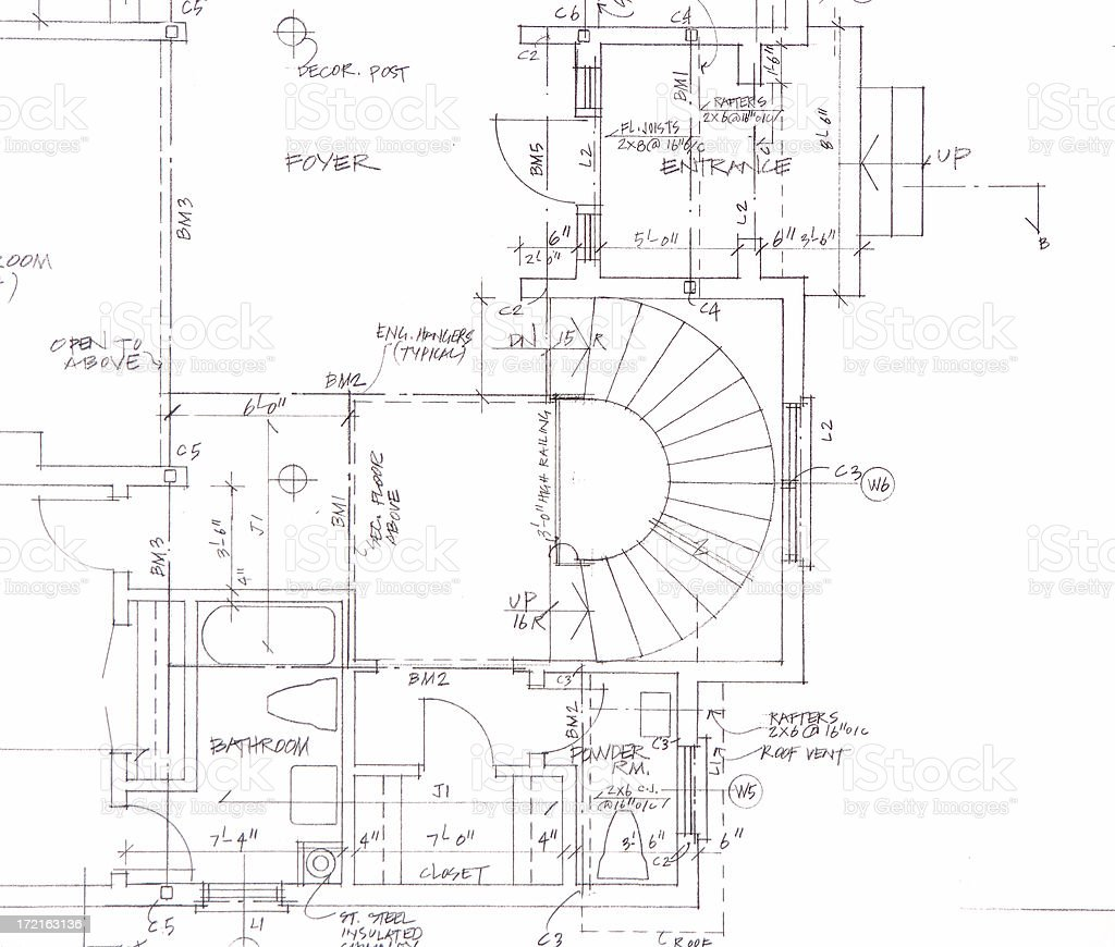 blueprint close-up royalty-free stock vector art
