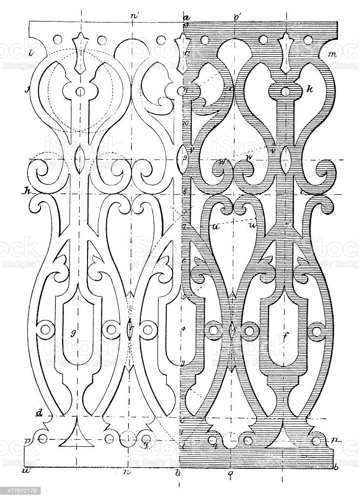 Blueprint for ornamental woodcut work stock vector art more images blueprint for ornamental woodcut work royalty free blueprint for ornamental woodcut work stock vector art malvernweather Image collections