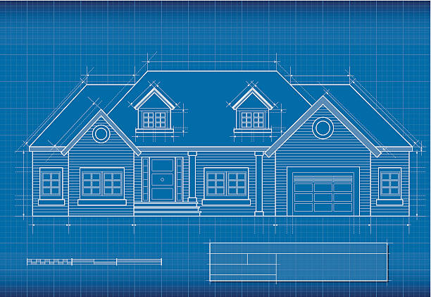 Royalty free blueprint house clip art vector images illustrations blueprint house vector art illustration malvernweather Image collections