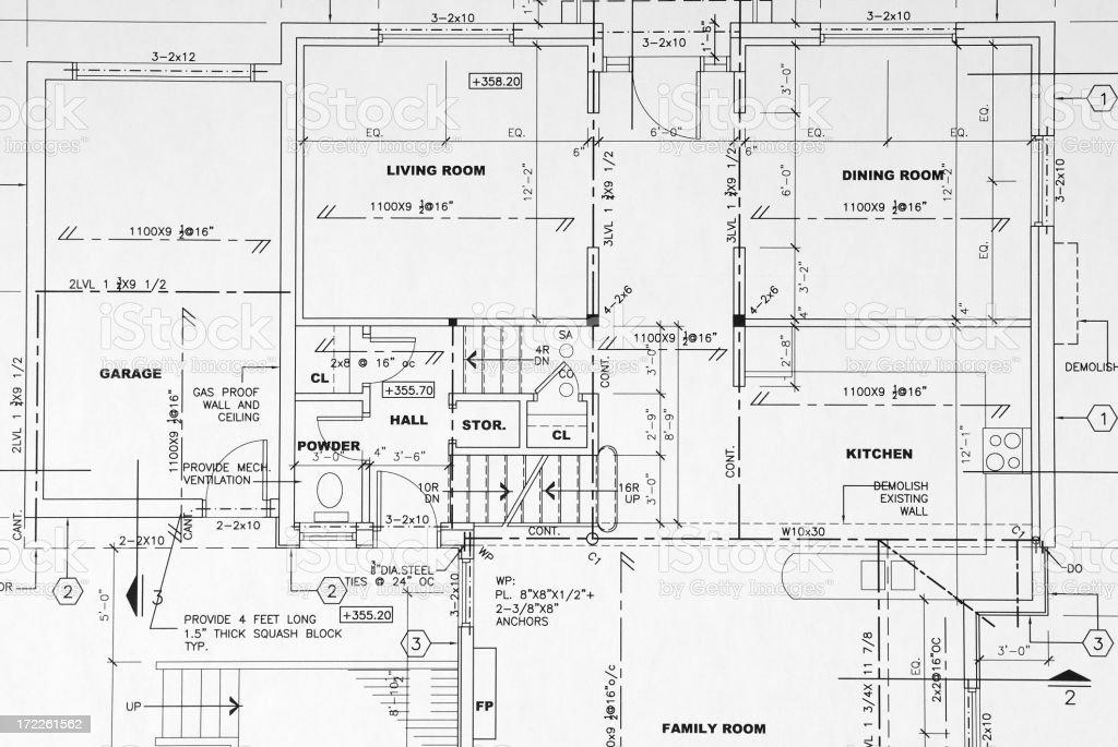 Technische Zeichnung – Vektorgrafik