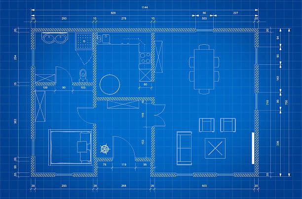 Royalty free blueprint house clip art vector images illustrations blueprint of architect plan for house construction vector art illustration malvernweather Image collections