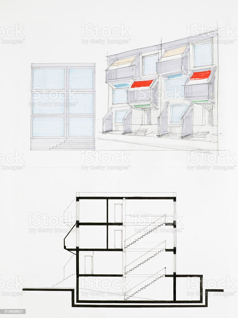 modern architecture blueprints residential blueprint of modern building royaltyfree stock vector art amp blueprint of modern building stock vector art more images