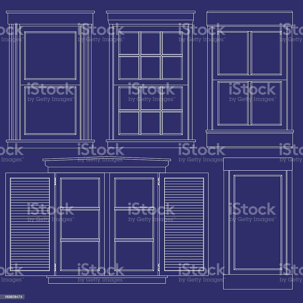 Blueprint window illustrations royalty-free blueprint window illustrations stock vector art & more images of blue