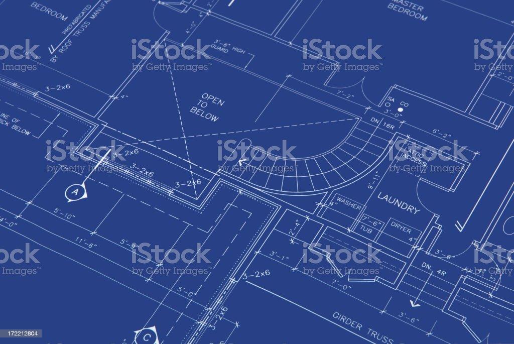 blueprints b15 royalty-free stock vector art