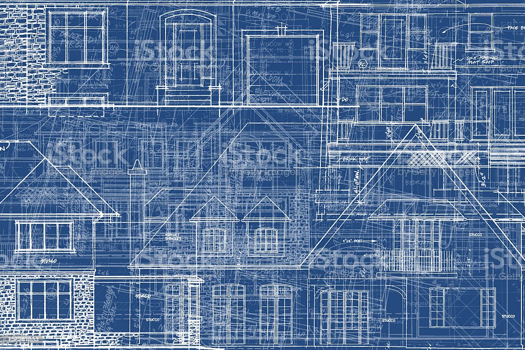 BluePrints - Chaos of Lines IX royalty-free stock vector art