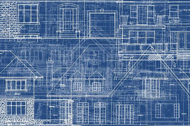 BluePrints - Chaos of Lines IX vector art illustration