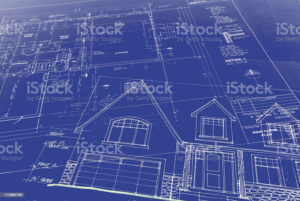 blueprints vector art illustration