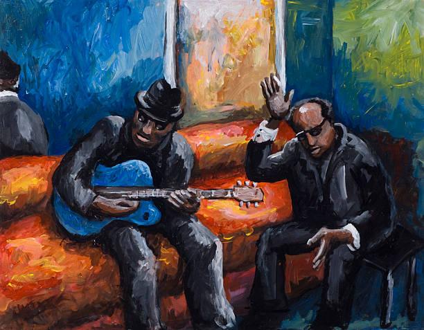 Blues  modern art stock illustrations