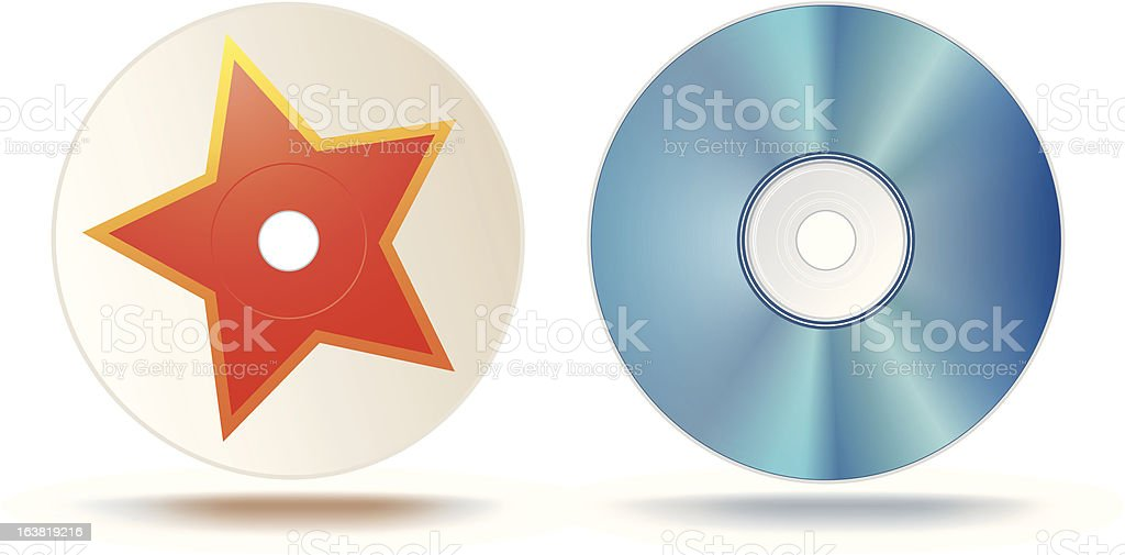Blu-ray disc vector art illustration