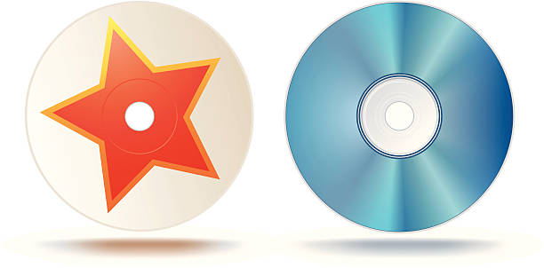 Blu-ray disc vector art illustration