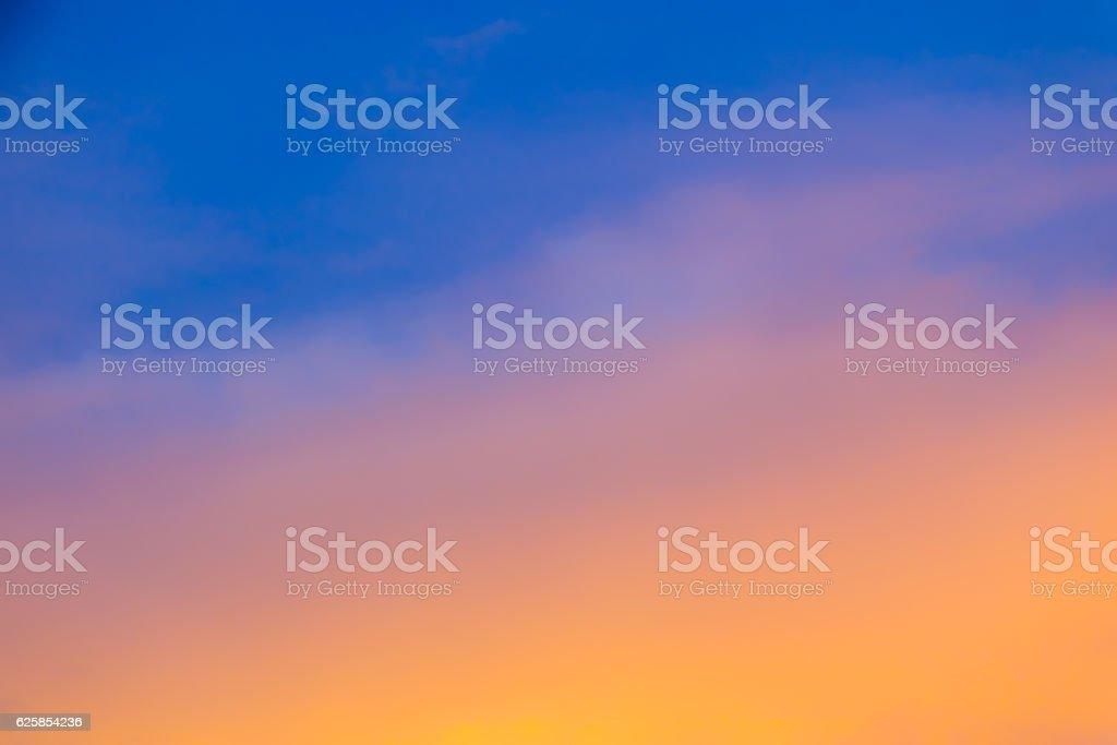 Blurred Sky During Sunset - Gradient Background vector art illustration
