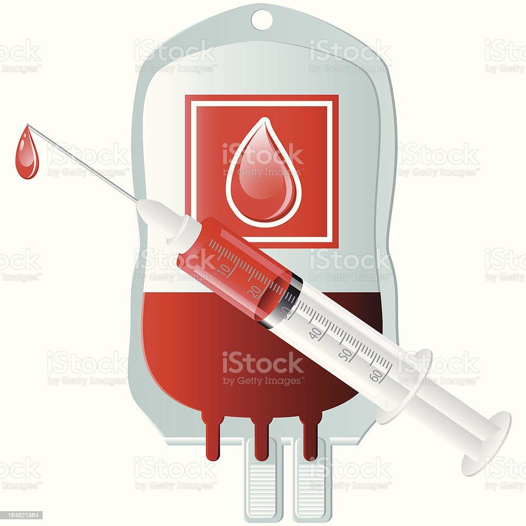 Blutspende vector art illustration