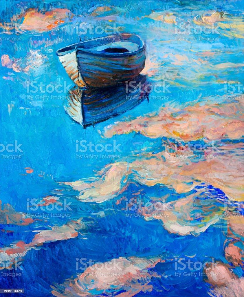 Boat vector art illustration