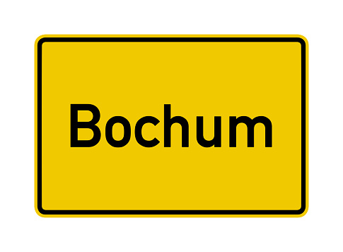 Bochum city limits road sign in Germany