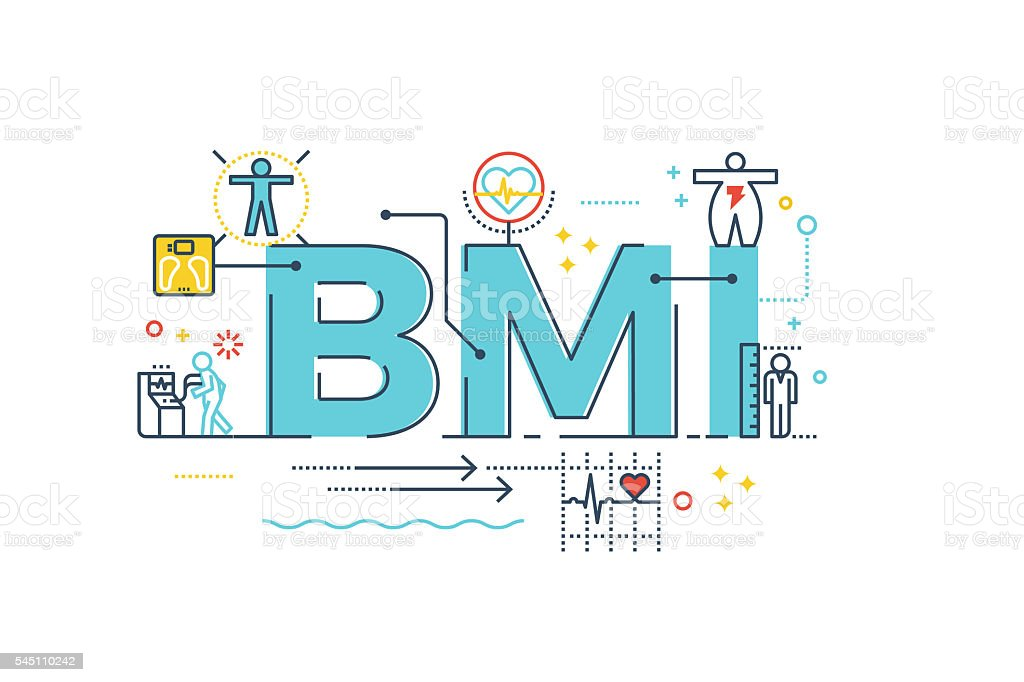 Bmi Body Mass Index Word Stock Vector Art More Images Of Dieting