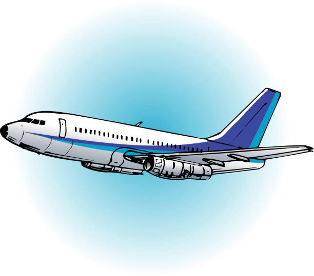 Boeing 737 vector art illustration