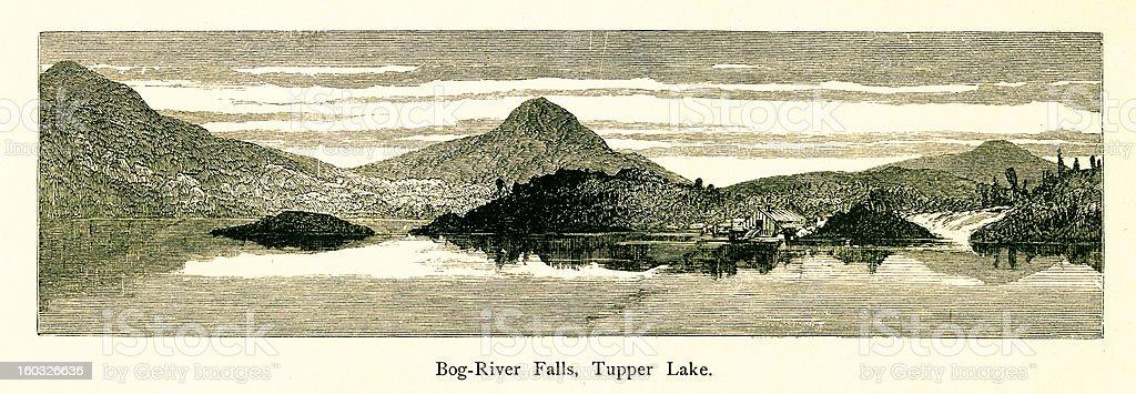 Bog River Falls, New York royalty-free bog river falls new york stock vector art & more images of 19th century