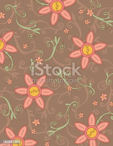 Boho Floral Background Stock Vector Art 164887954