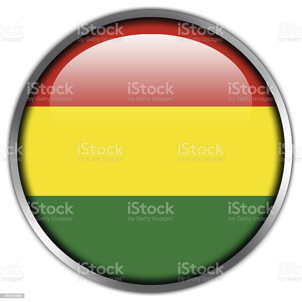 Bolivia Flag glossy button royalty-free stock vector art
