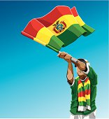 Bolivia Waving Flag Soccer Fan