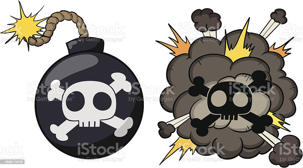 Bomb explosion royalty-free stock vector art