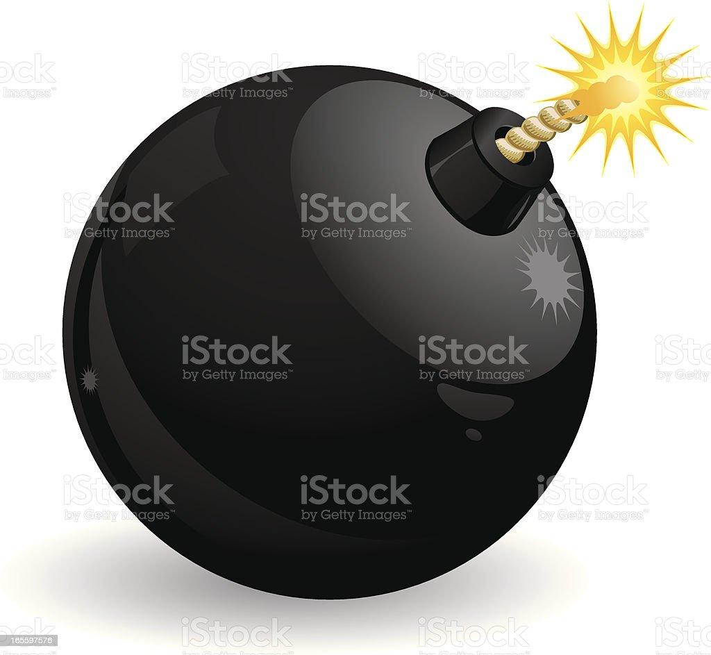Bomba ilustración de bomba y más banco de imágenes de armamento libre de derechos