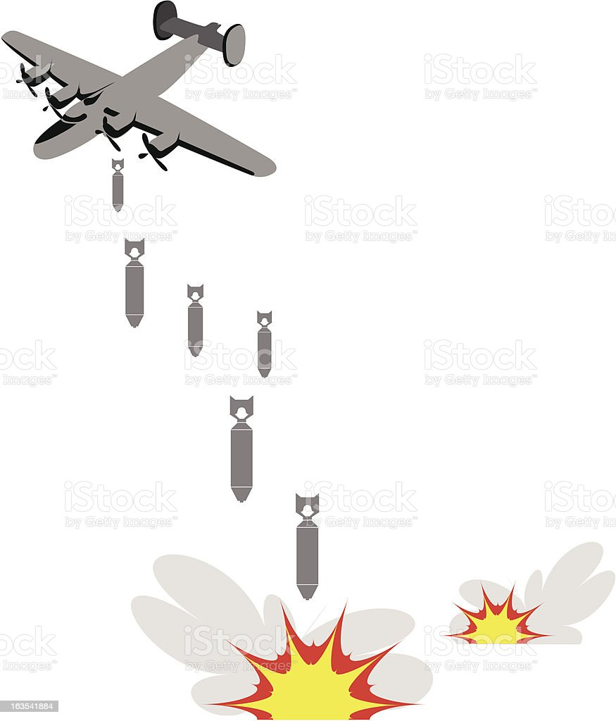 Bombing royalty-free bombing stock vector art & more images of air force