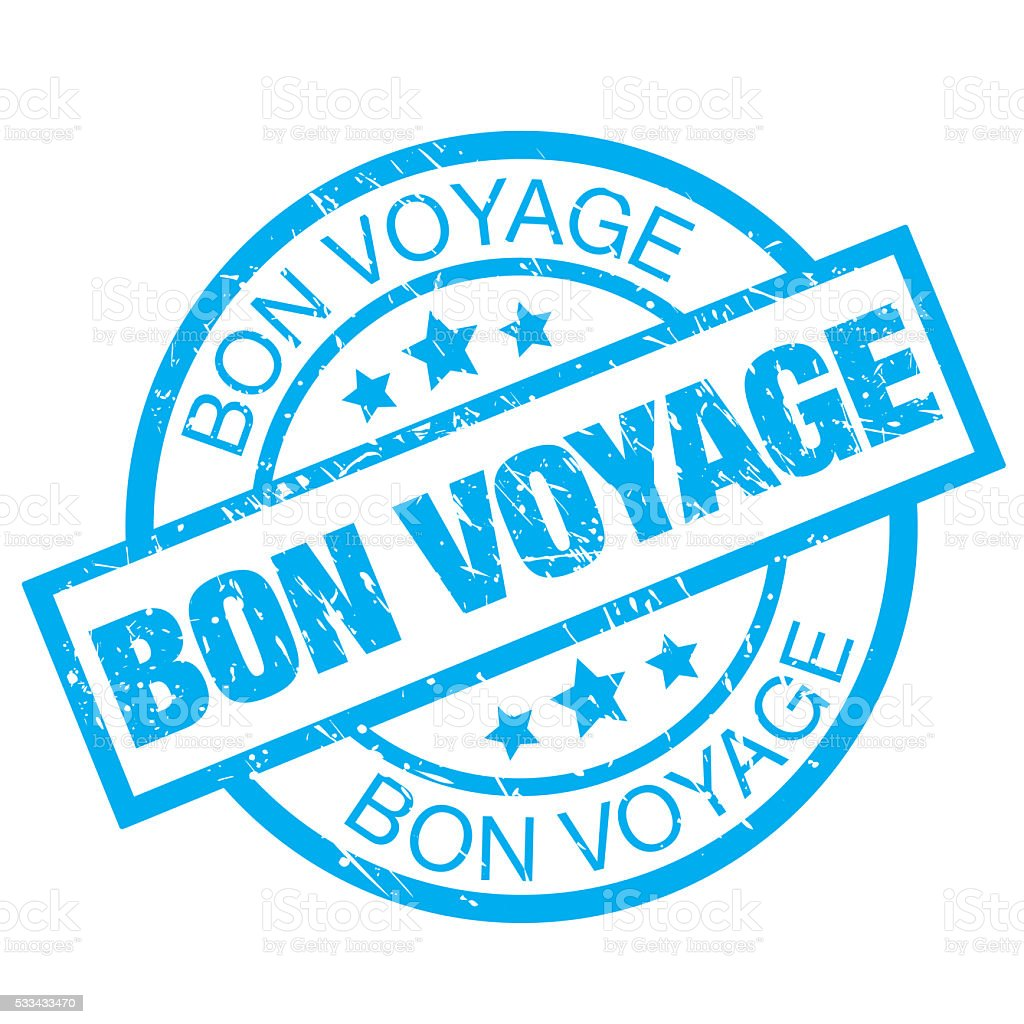 Bon Voyage vector art illustration