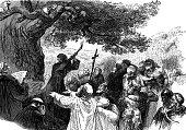 Bonifatius falls the Donar Oak, formerly devoted ot a german god
