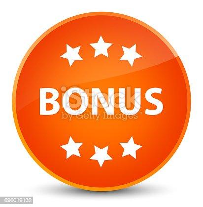 istock Bonus icon elegant orange round button 696019132