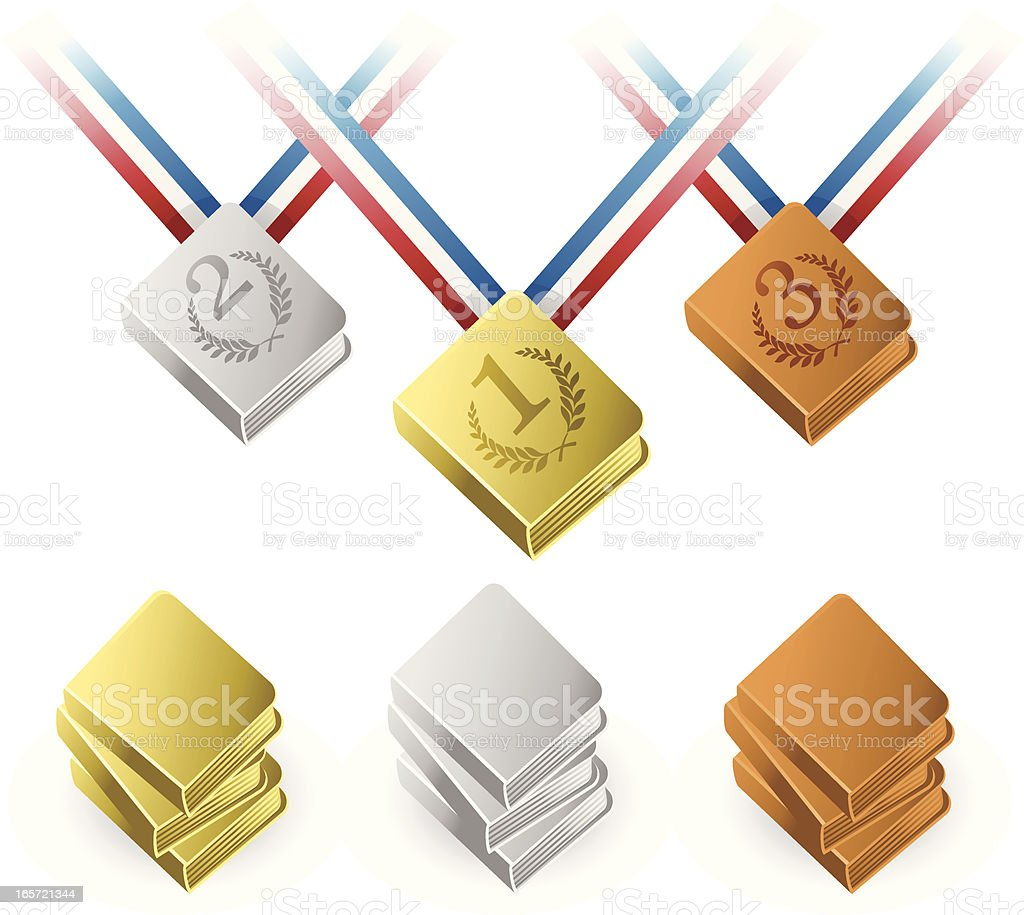 Book Awards royalty-free book awards stock vector art & more images of achievement