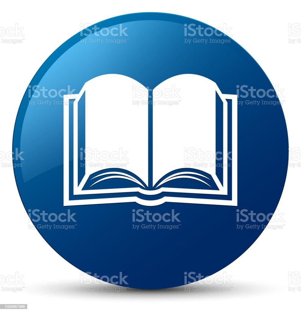 Icone Representant Un Livre Bleu Rond Bouton Vecteurs Libres
