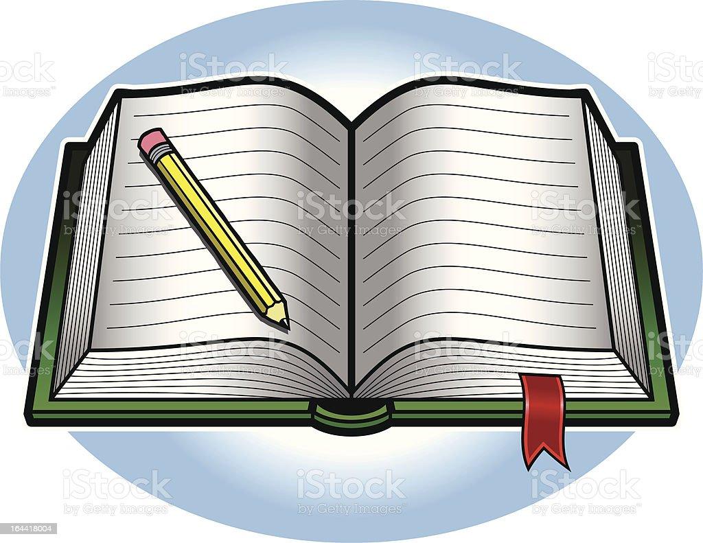 Book vector art illustration