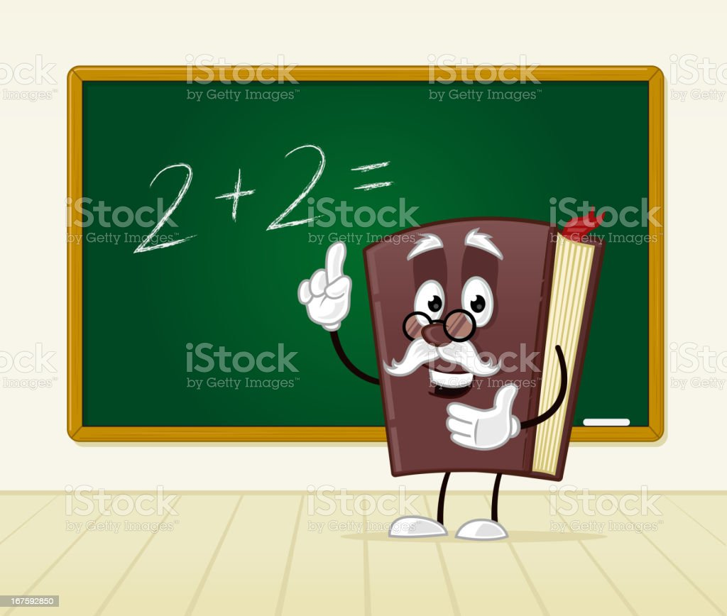 Book teacher royalty-free stock vector art