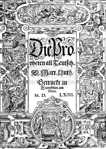 istock Book title from 16th century, Virgil Solis 818913338