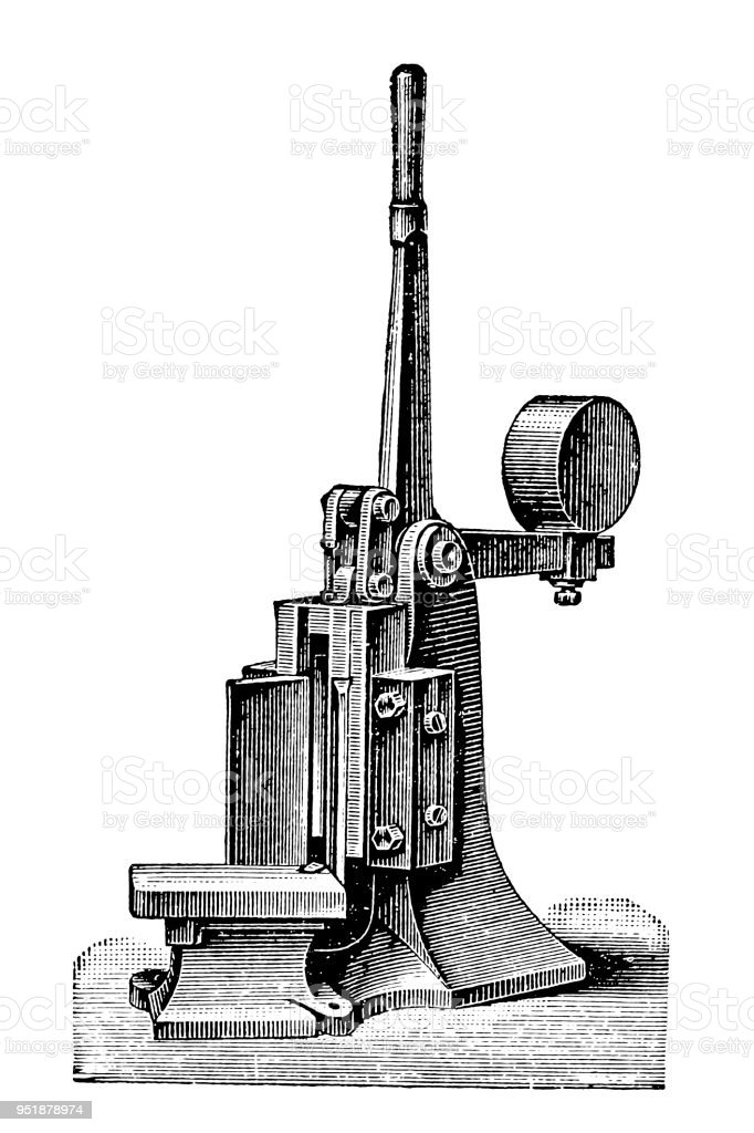 Bookbinding machines ,Ball Corner-Cutting Machine vector art illustration
