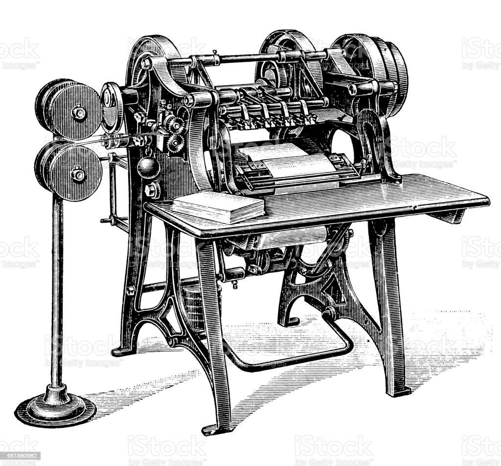 Bookbinding machines ,Wire-stitcher vector art illustration