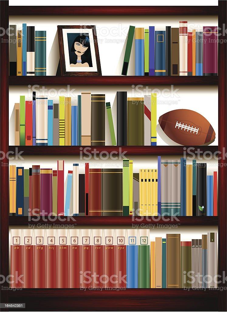 bookcase royalty-free stock vector art