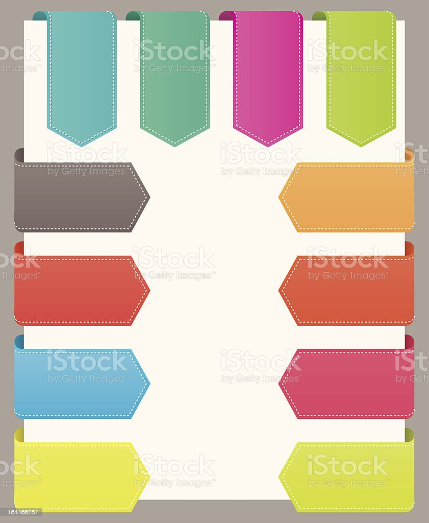 Bookmarks ribbons. royalty-free stock vector art