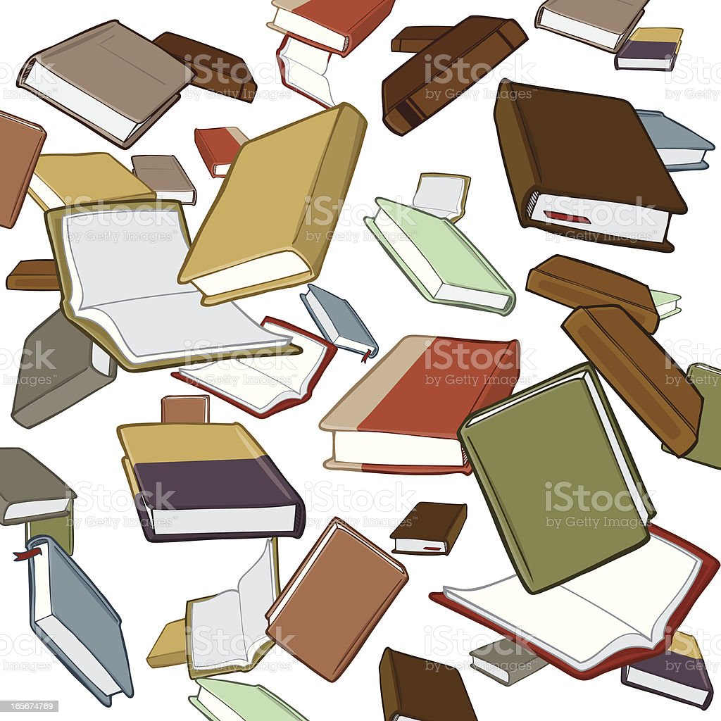 Books Falling royalty-free stock vector art